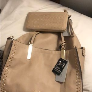 Andrew Marc Tote and matching wallet